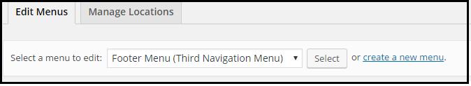 Selecting Menus - WordPress