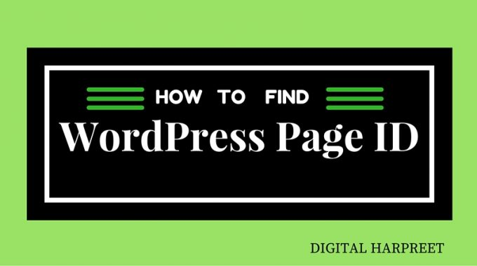 How To Quickly Find WordPress Page ID