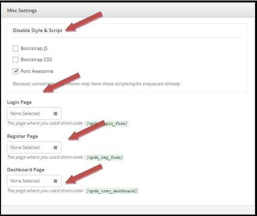 WordPress Download Manager Basic Settings Misc Settings