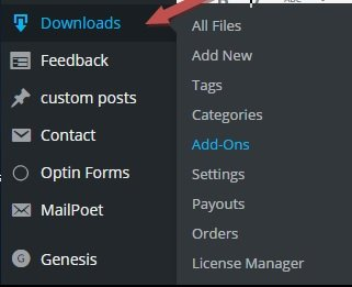 Wordpress download manager Plugin - Dashboard
