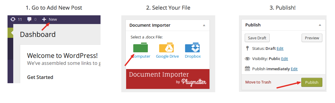 Import MS Word To WordPress