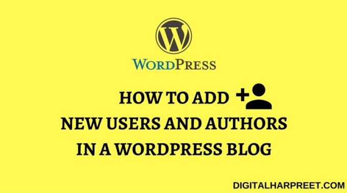 How to Add Authors To Your WordPress Blog