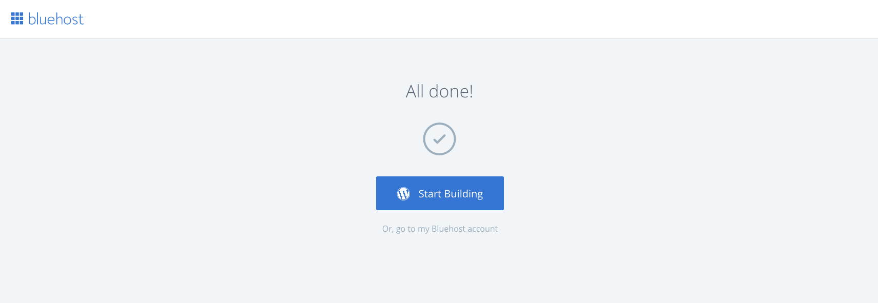 Start A Blog Bluehost WP Login