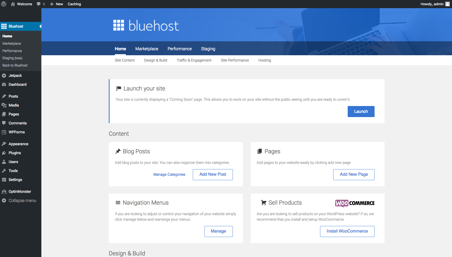 Start A Blog Bluehost Tools