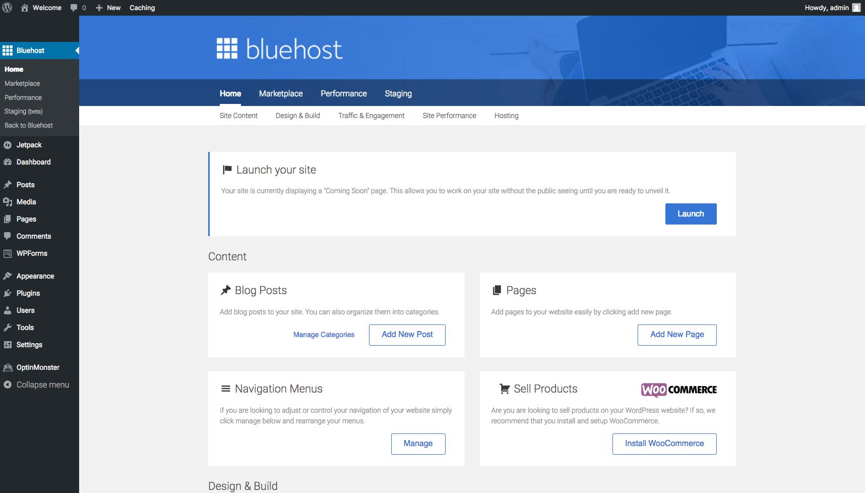 Start A Blog Bluehost Tools