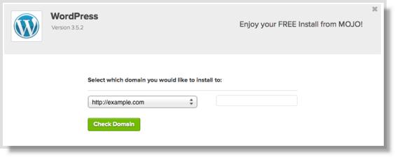 Start a blog Install WordPress