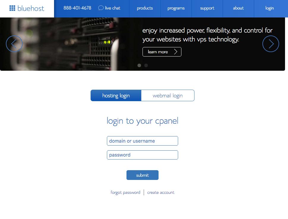 start a blog 9-bluehost_cpanel-login
