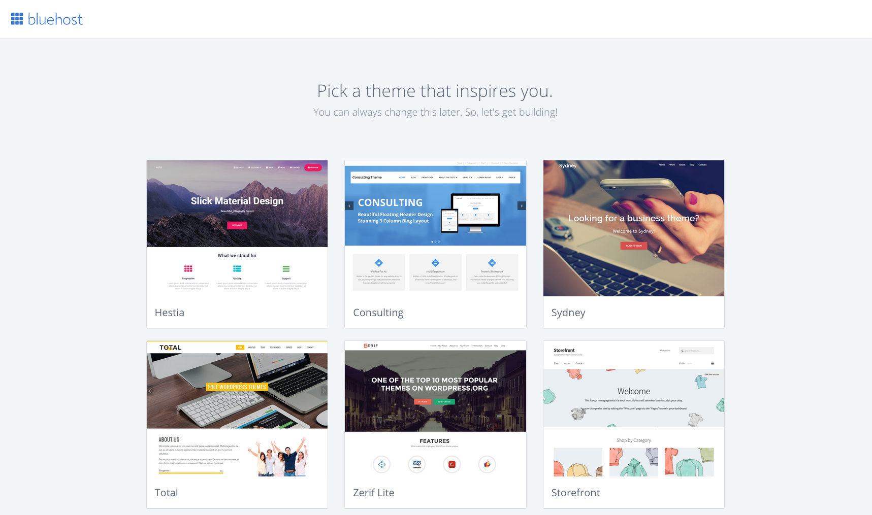 Start A Blog Bluehost 9 Pick Theme
