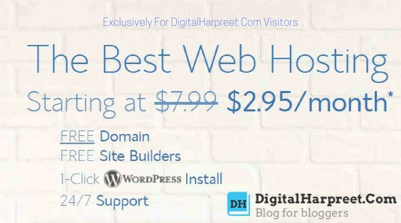 Start A Blog Bluehost - Exclusively For DigitalHarpreet Visitors