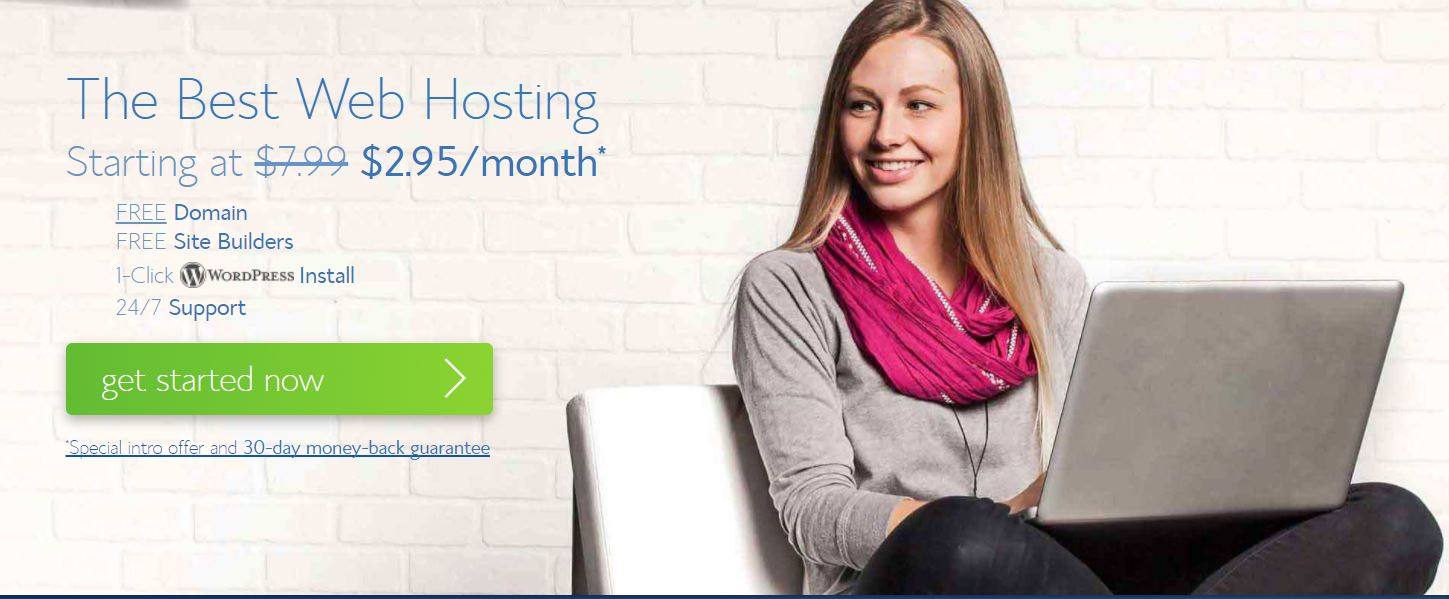 Start A Blog Bluehost in 2.95 per month only