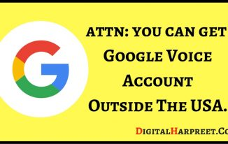 Get Google Voice Account & Number Outside The USA