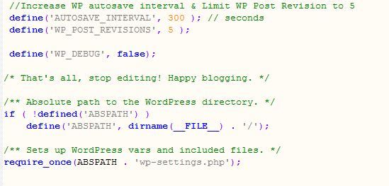 Disable WordPress Post Revisions