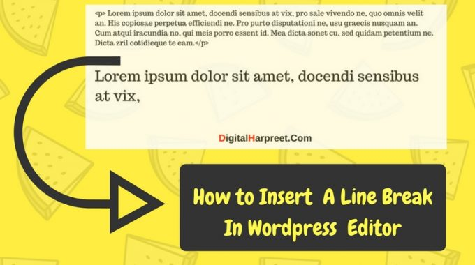 how to insert a line break in wordpress manually dh