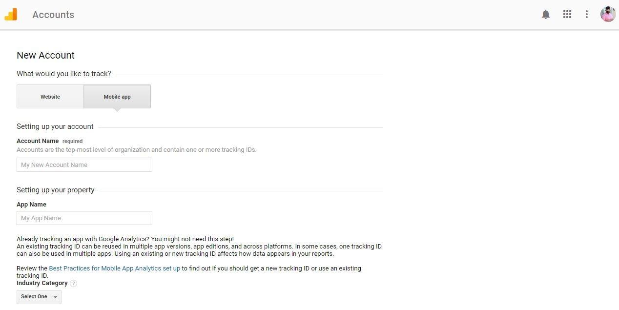 Google Analytics Registration Page 2
