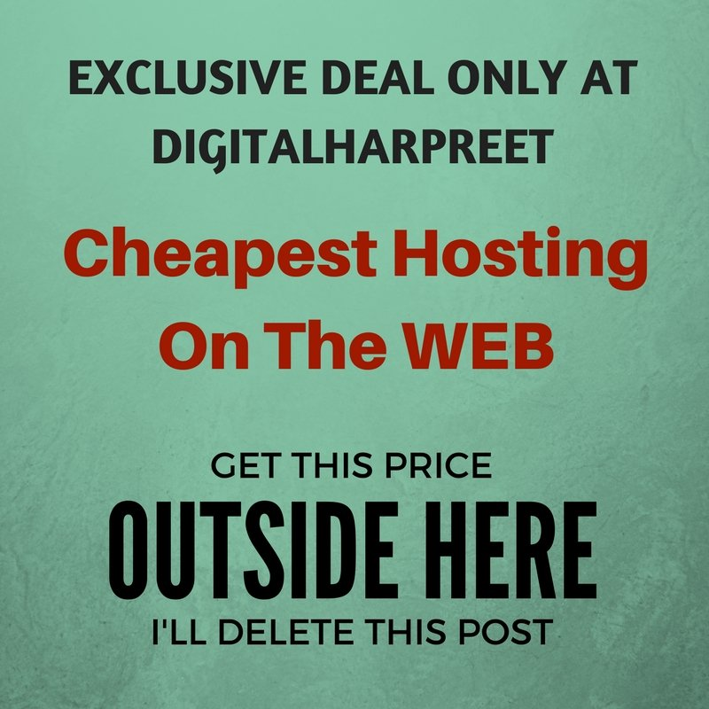 Cheapest Website Deal