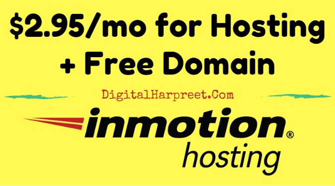 InMotion Hosting Coupon (Exclusive) – $2.95/mo for Hosting + Free Domain