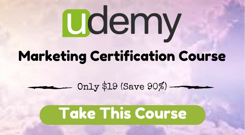 Marketing Certification Course $19
