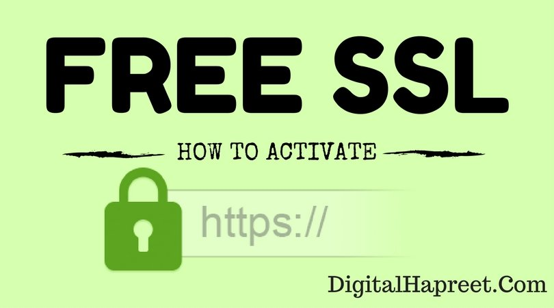 How To Activate Free Wordpress Ssl Certificate Bluehost Dh