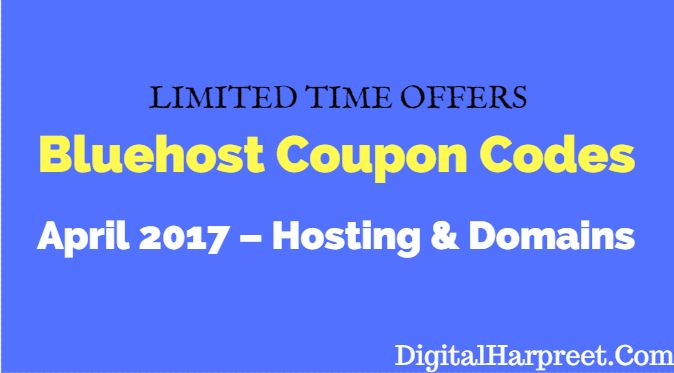 Bluehost Coupon Codes April 2017 – Hosting & Domains