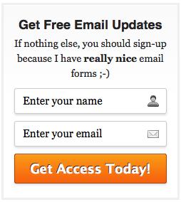 Start a blog checklist - signup form