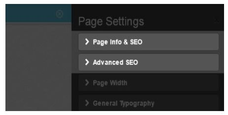 Instabuilder 2.0 SEO options