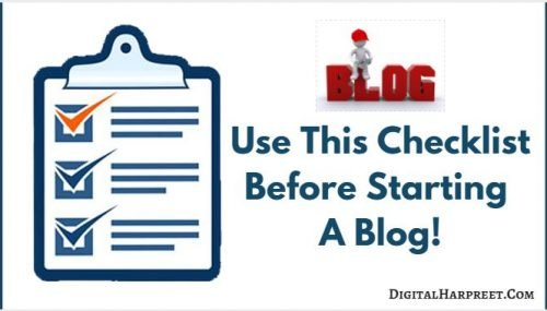 Checklist For Beginners To Start A Professional Blog