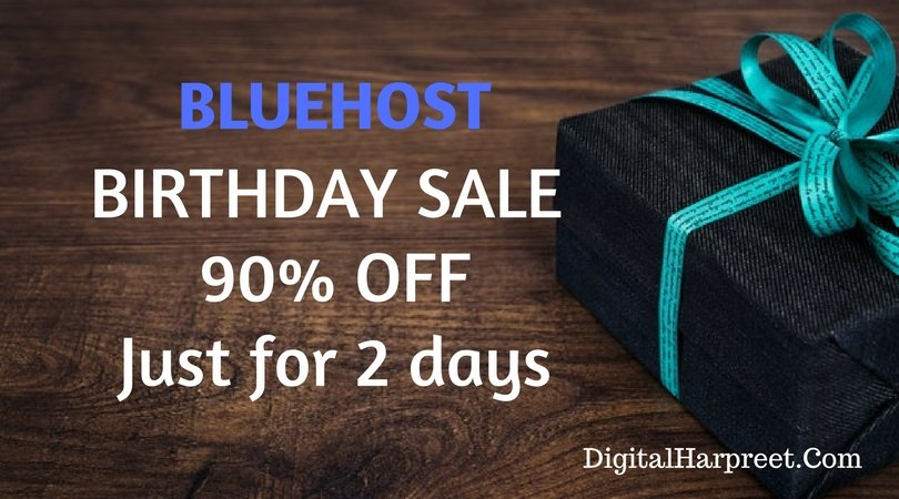 BlueHost Birthday Sale! $2.65/Month (Reg.Price $7.99/Month)