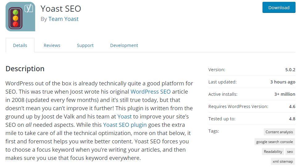 Google Search Ranking Yoast SEO