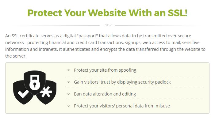 SiteGround Review - Free SSL Certificate