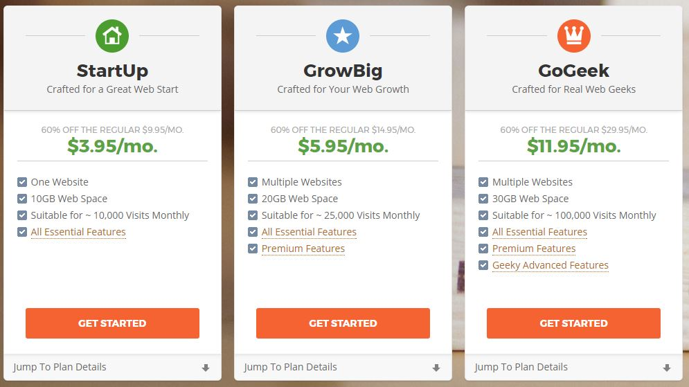 SiteGround Review - Web Hosting Plans