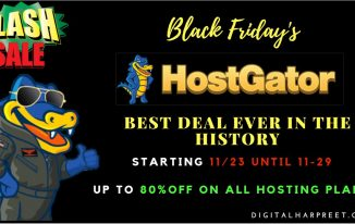 Hostgator Black Friday Sale – Biggest Web Hosting Discount