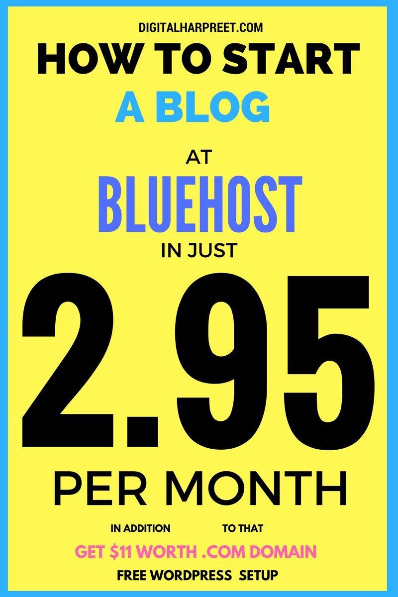 Start A Blog At Bluehost