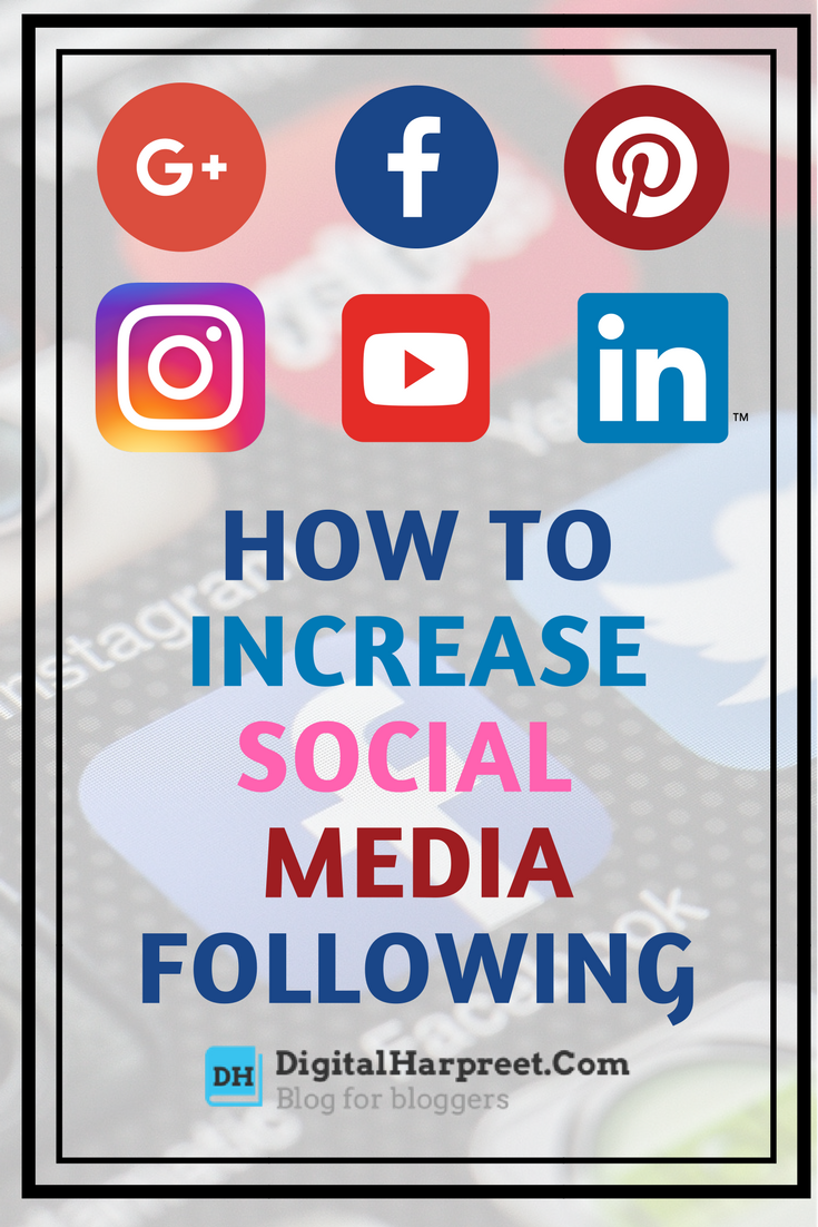 How to increase social media following