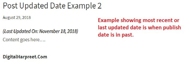 Show Last updated timestamp on wordpress post plugin example 2