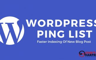 WordPress Ping List For Faster Indexing Of New Blog Post